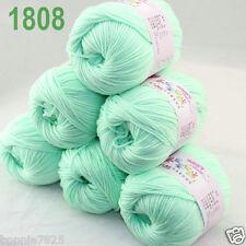Sale 6 ballsx 50gr DK Baby Soft Cashmere Silk Wool hand knitting Crochet Yarn 08
