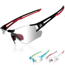 ROCKBROS Photochromic Cycling Sports Rimless Sunglasses Eyewear UV400 Goggles