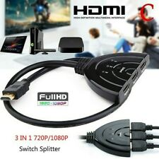 4K 3 Port HDMI Splitter Cable 4K HDMI 1.4 Switch Switcher HUB Adapter for HDTV X
