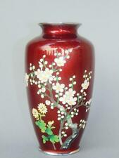 Good Quality Japanese Meiji Period Ginbari Cloisonné Vase