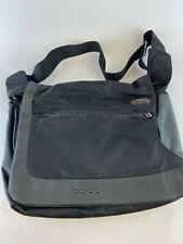 Tumi Compartments Expandable Nylon Messenger Laptop Bag Business Travel Gray