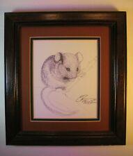 RARE Susan Morrison Eureka Springs Mouse Limited Edition Framed Pen and Ink Art