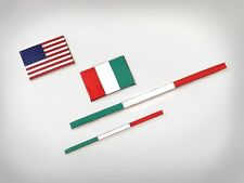 Ferrari Genuine 488GTB Italian Flag Emblem Kit #84706300