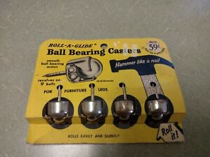 Vintage Roll-A-Glide Ball Bearing Casters