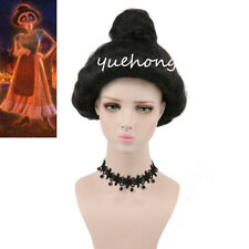 COCO Imelda Cosplay Wig Long Wavy Black Famale Fashion Costume Party Wig