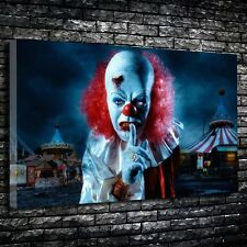 """Pennywise Printed Canvas A1.30""""x20""""- Deep 30mm Frame Evil Clown Stephen King"""