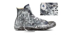 CONVERSE ALL STAR HI HAND PAINTED BLU LIMITED EDITION