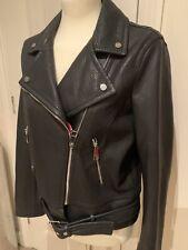 Hugo BOSS Leather Biker Style Jacket, UK10,IT42,US6 Rrp £499
