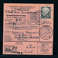 89879) Auslands - Postanweisung Heuss, 50PF EF Hildesheim - Österreich