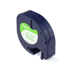 Compatible Dymo Letratag 12mm Black on White Label Tape Labelmanager 91200 91330