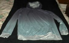 Woman's Lg Hoodie Workout Pullover Exercise Fitness Athletic Aqua Purple Apparel