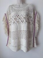 Next Women`s Poncho Jumpers/ Sweaters Beige Size S-M