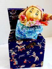 VTG 1950's Jack in the Box popper surprise Clown Joker Jester fun Toy