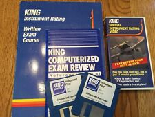 KING Private Pilot Instrument Rating Written Exam Course Set Disk/VHS Books Lot