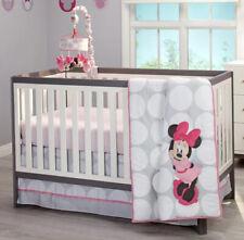 New listing Disney Minnie Mouse Polka Dots 4 Piece Baby Crib Bedding Set