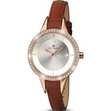 Ladies ACCURIST 8043 Contemporary Stone Set Leather Strap Watch RRP £79.99