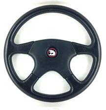 Genuine Momo Ghibli 380mm black leather steering wheel. Classic, Retro, HSV.  7A