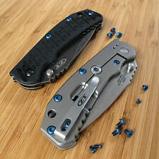 Zero Tolerance ZT0550 550 ZT Knife 10PC Titanium Body & Lock Bar Screws Set BLUE