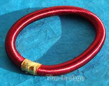 Bracelet Bangles Unisexe Coton Artisanat Inde Bordeaux