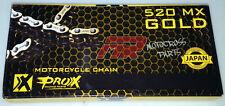 ProX DID GOLD ERT2 CHAIN 520 X120 CRF,KXF,RMZ,YZF 250,450 Dirt Bike MX Motocross