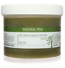 100% Natural Hard Wax Strip Free! TEA TREE OIL Natural Way 24oz/680g Depilatory