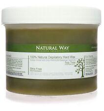 TEA TREE OIL Natural Way 24oz/680g Depilatory Hard Wax