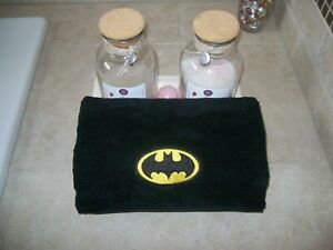 Embroidered Personalized Batman bath towel