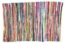Indian Hand Braided Heavy Rag Rug Floor Mat Recycled Cotton Woven Rugs 90x150cms