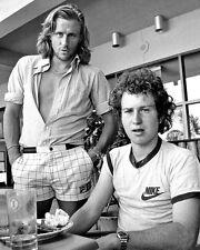 John McEnroe and Bjorn Borg Candid BW 10x8 Photo