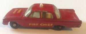 MATCHBOX NO. 59 FORD FAIRLANE FIRE CHIEF'S CAR