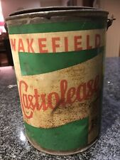 VINTAGE CAN CASTROLEASE WAKEFIELD COLLECTABLE ADVERTISING PETROL OIL