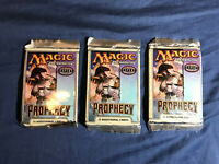 THREE (3x) Magic the Gathering MTG Prophecy sealed booster packs