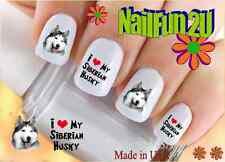 "RTG Set#153 DOG BREED ""Siberian Husky love"" WaterSlide Decals Nail Art Transfers"