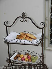 FRENCH antique style cake stand  2 tiers WROUGHT IRON NEW