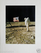 Apollo 11 First Moon Landing Neil Armstrong Buzz Aldrin Flag Photo Lithograph