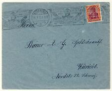 AUSLANDSDRUCKSACHE mit seltenem HANDROLLSTEMPEL Nürnberg 1922 (355)