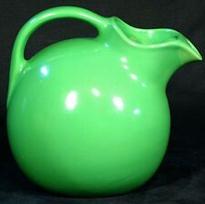 Green Unsigned Ball Pitcher ~ Water Jug ~ w/ Ice Lip ~ 633 style Hall Vintage