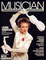 LAURIE ANDERSON 1984 MUSICIAN MAGAZINE ORIGINAL COVER POSTER