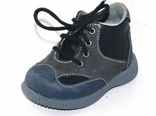 BOTTINES CHAUSSURES BEBE GARCON 18 cuir bleu jeans KK BOUDIN EXPO NEUF