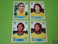 Panini WM 70 1970 - 4 x Extrasticker Brasilien !
