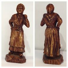 Antique Chiffre en bois déco damenfigur OBJET DE COLLECTION