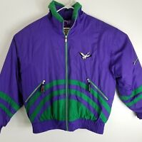 Triple Fat Goose Down Mens Jacket Coat Size XL Colorblock Vintage 90s Purple