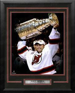 Martin Brodeur Stanley Cup Autographed Signed 16x20 Framed Hockey Photo Fanatics