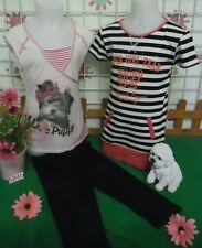 vêtements occasion fille 8 ans,tee-shirt,leggings corsaire,tee-shirt