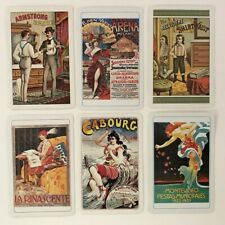 6 Vintage Playing Cards ~ Poster Reproductions ~ 2 Jokers ~ 3 Ace of Spades