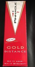 PINNACLE GOLD DISTANCE GOLF BALLS NEW NIB ONE SLEEVE (3 IN BOX)
