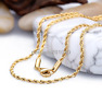 2/2.5/3/mm Womens Men Chain Gold Tone Rope Stainless Steel Chain Necklace 18-40""