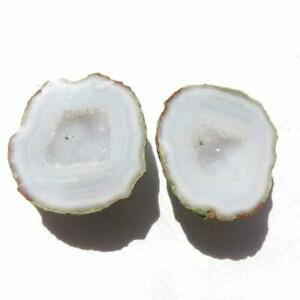 Tabasco - Tiny Mexican Baby Geode  Polished Halves for  Jewelry * Display TEX655