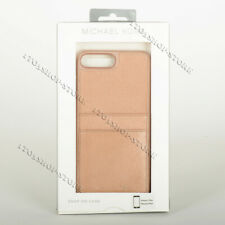 Michael Kors iPhone 7 Plus iPhone 8 Plus Hard Shell Leather Case Rose Gold Pink