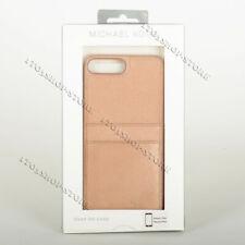 Michael Kors iPhone 7 Plus iPhone 8 Plus Leather Pocket Hard Case Rose Gold Pink